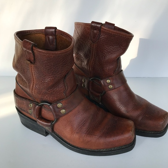 Double H Shoes | Harness Boots 7d Brown Leather | Poshmark